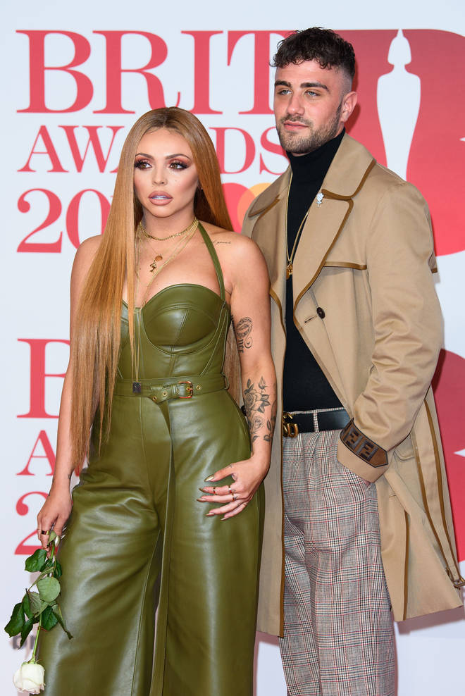 Jesy Nelson and Harry James at The BRIT Awards 2018