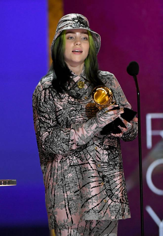 Billie Eilish won 4 Grammy Awards