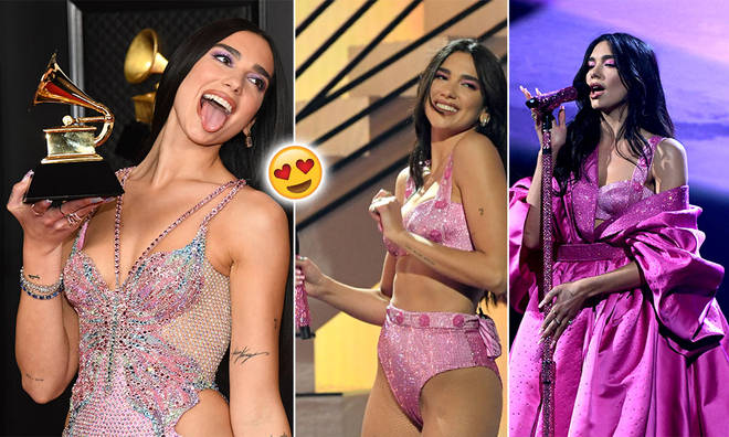 Dua Lipa acknowledged her fellow female Grammy nominees in her acceptance speech.