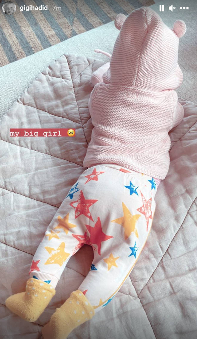 Gigi Hadid posted an update on how fast her baby is growing