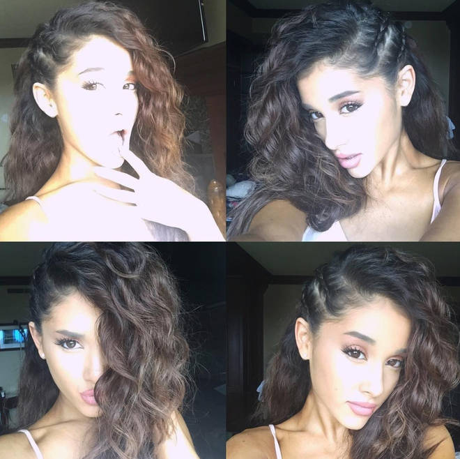 Ariana Grande's natural hair is curly although she's known for her trademark ponytail