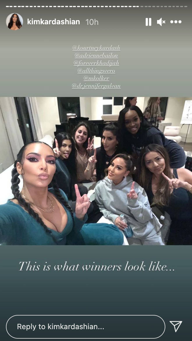 The Kardashians and Adrienne Bailon proved they buried the hatchet.
