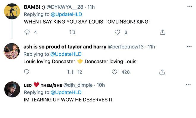 Fans were praising Louis Tomlinson for his accomplishment.