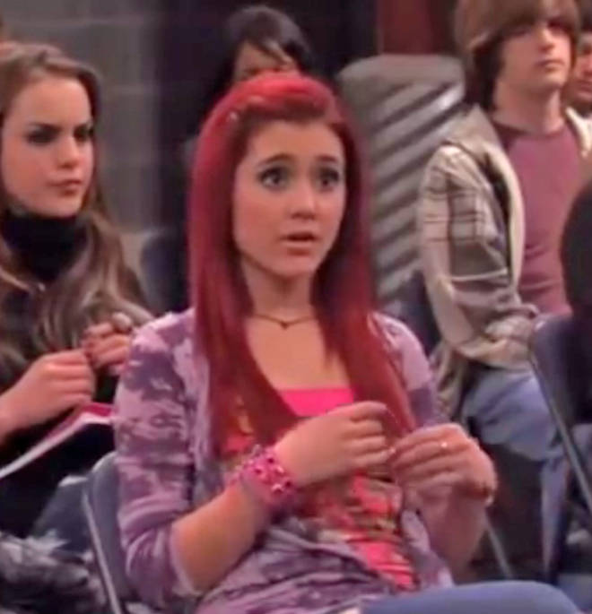 Ariana Grande had red hair when she played the role of Cat Valentine in 'Victorious'