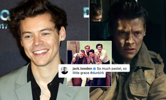 The snap shared by Jack Lowden showed him and Harry Styles in 2017.