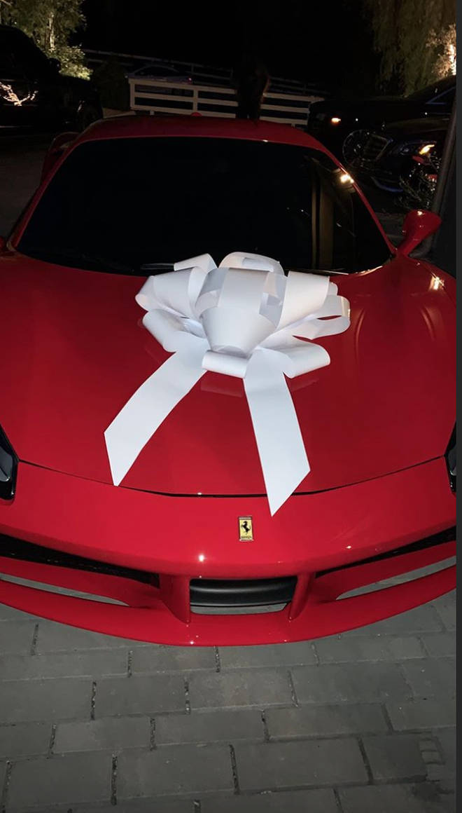 Kris Jenner's brand new Ferrari 488 from billionaire daughter, Kylie Jenner
