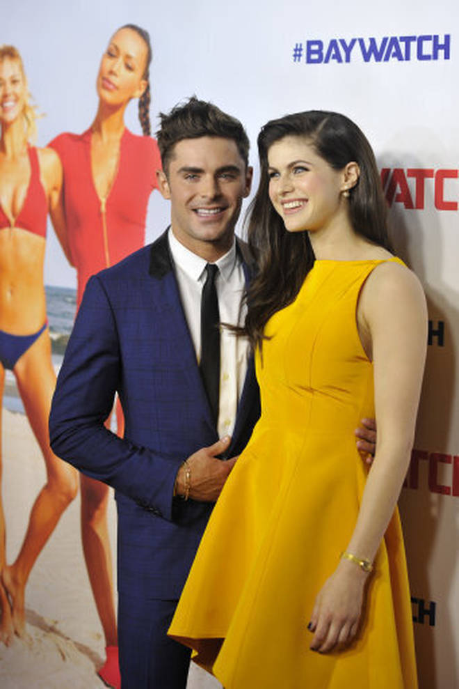 Zac Efron and Alexandra Daddario were romantically linked after starring in Baywatch together.