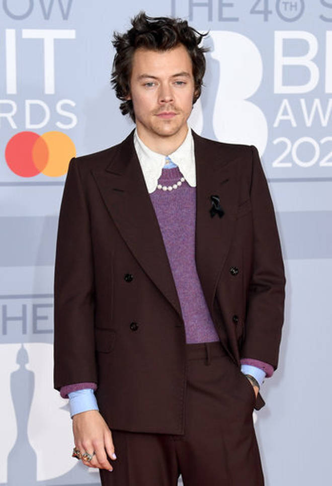 Harry Styles performed at the BRITs in 2020.