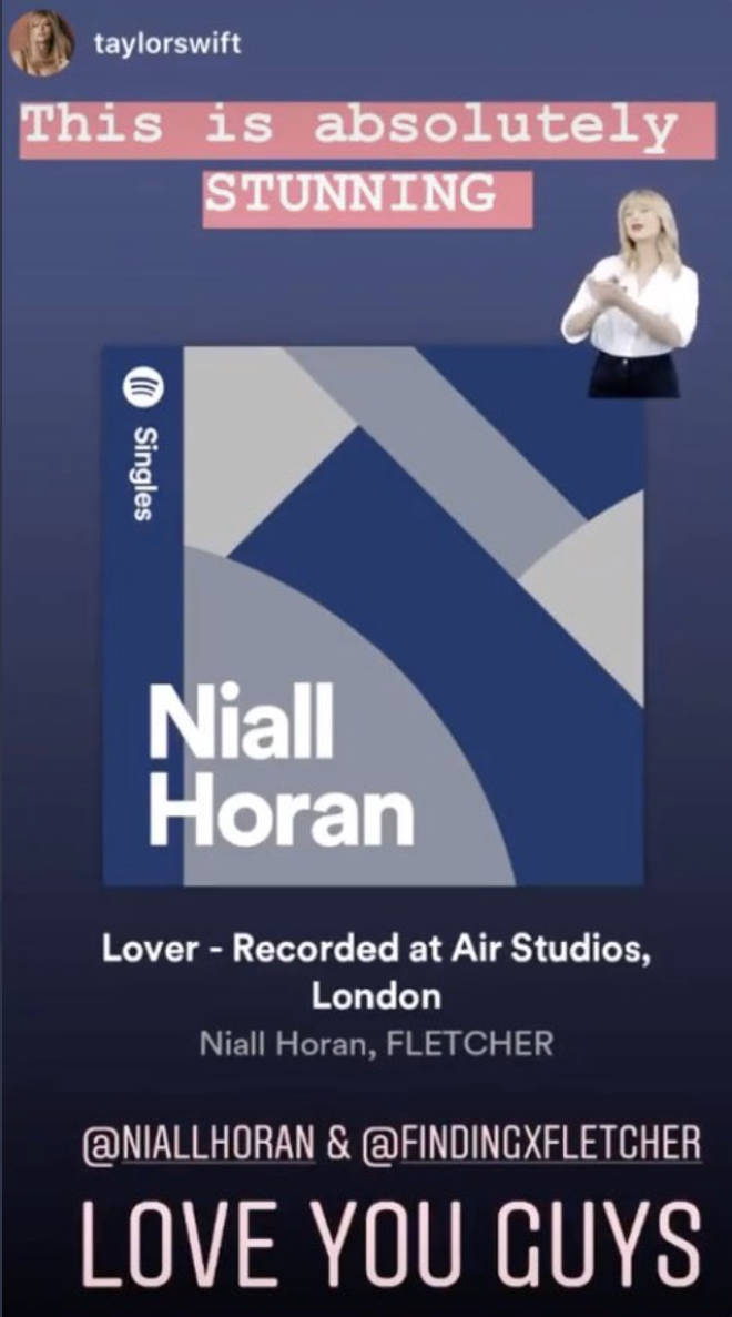 Taylor Swift praises Niall's cover of 'Lover'