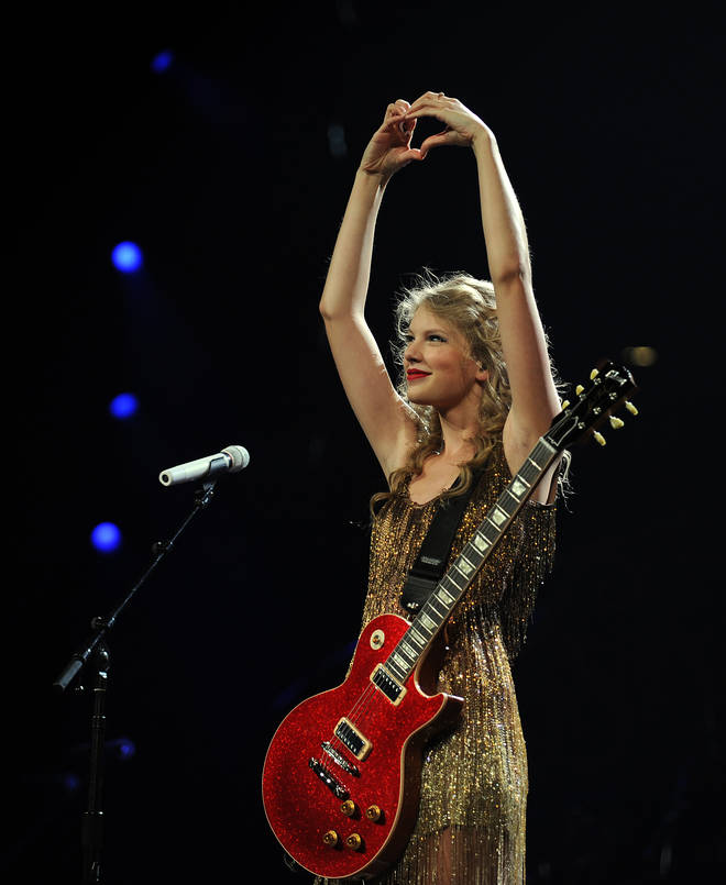 Taylor Swift has a bunch of songs she wrote in 2008 on her re-release of 'Fearless'
