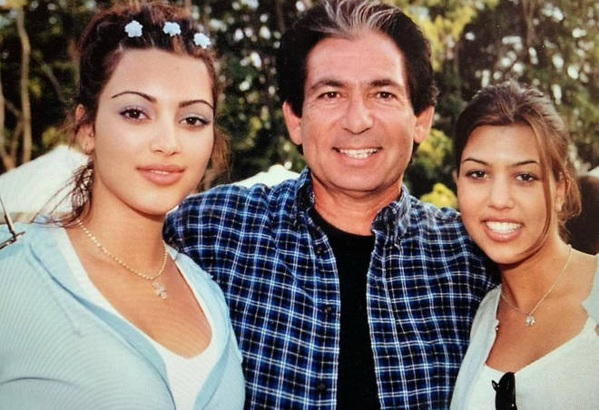 Kim Kardashian shared snaps of her younger years on Instagram.