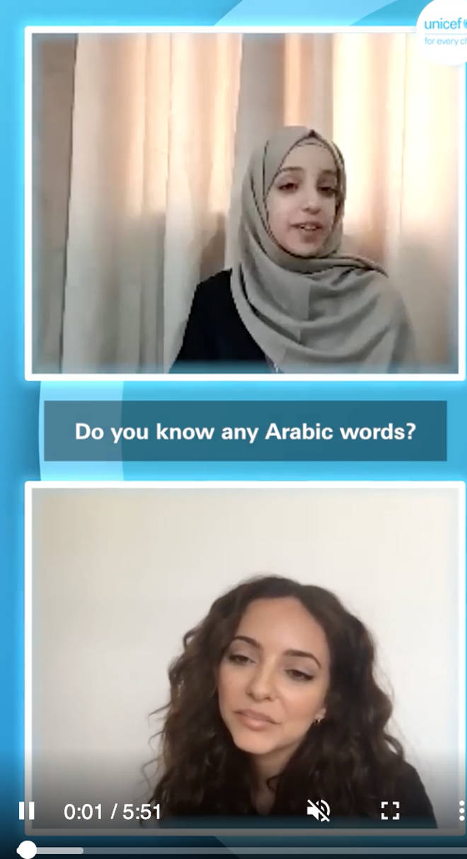 Jade Thirlwall showed off her Arabic skills during the call.
