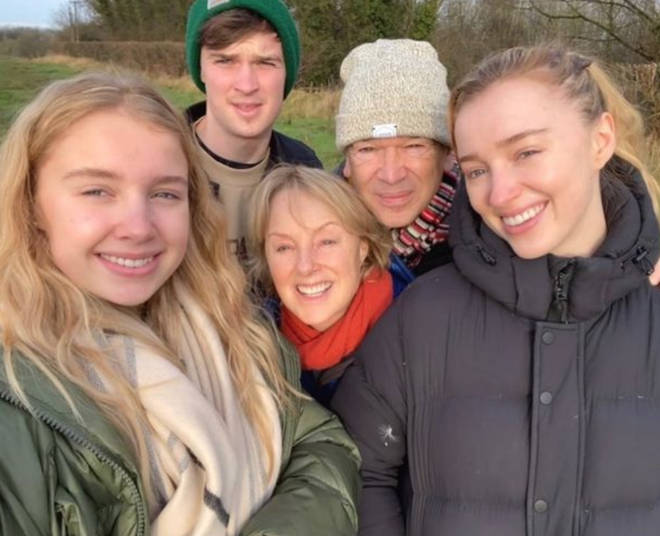 Phoebe Dynevor's mum and dad both work in TV.