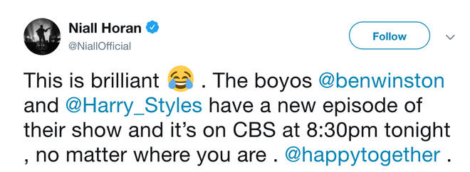 Niall Horan revealed that he thinks Harry Styles' TV show 'Happy Together' is brilliant