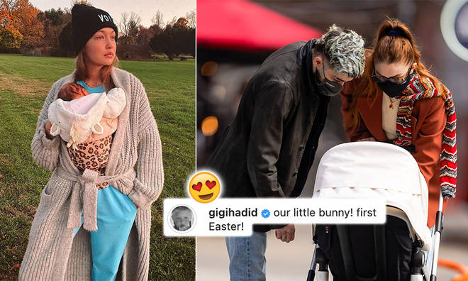 Gigi Hadid dressed up baby Khai as a bunny for her first Easter!
