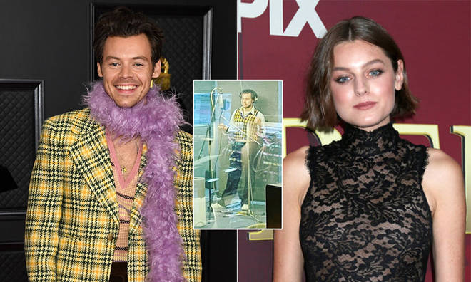 A first look at the recording for My Policeman starring Harry Styles and Emma Corrin has been shared.