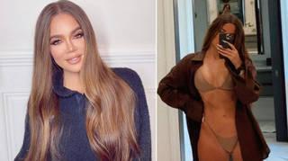 An unedited photo of Khloe Kardashian in a leopard print bikini has circulated online.