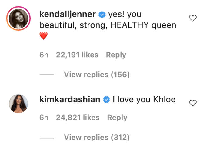 Kim Kardashian and Kendall Jenner showed their support towards their sister, Khloe.