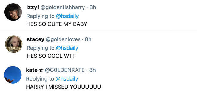 Harry Styles' fans took to the comments to share how much they missed him.