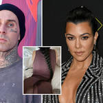 Kourtney Kardashian and boyfriend Travis Barker aren't shy of a PDA