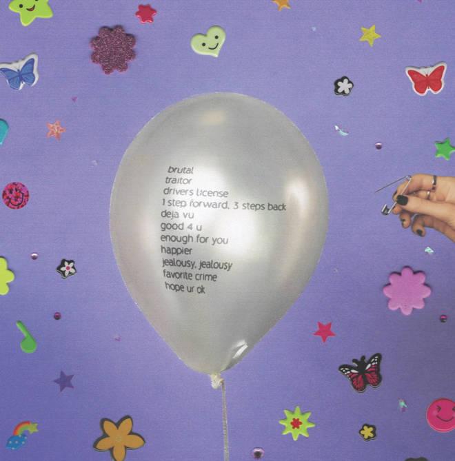 The track list of Olivia Rodrigo's debut album