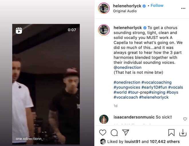 Louis Tomlinson likes a throwback video of One Direction