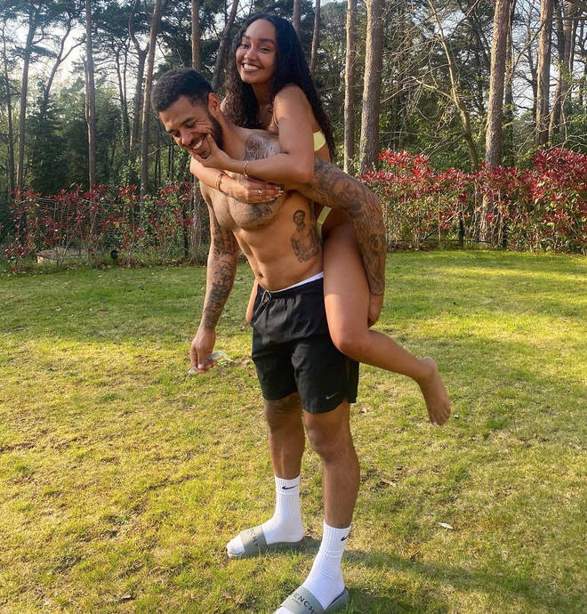 Leigh-Anne Pinnock and Andre Gray enjoyed lockdown together.
