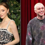 Pete Davidson and Phoebe Dynevor have shown off their 'commitment' with matching necklaces.