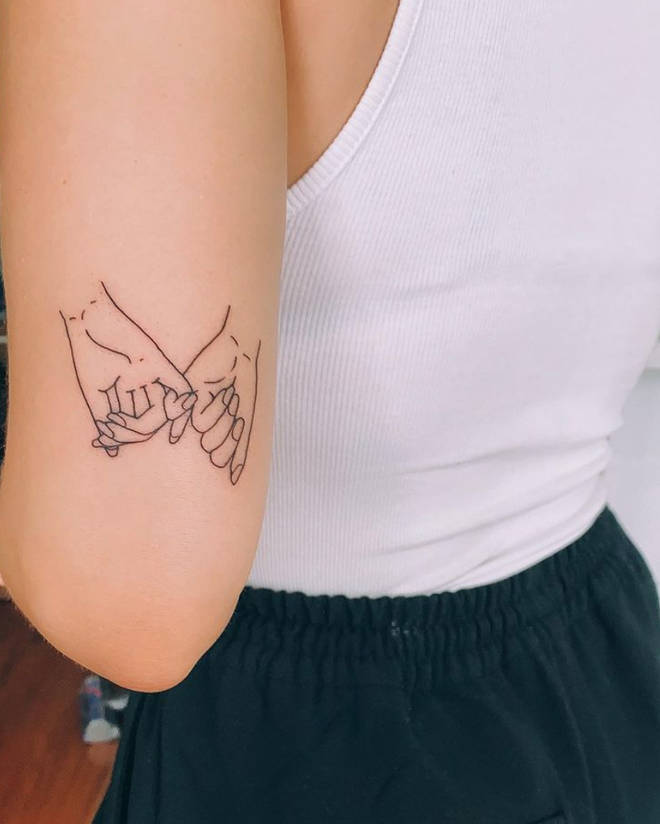 Anne-Marie got a pinky promise tattoo alluding to her 'To Be Young' lyrics.