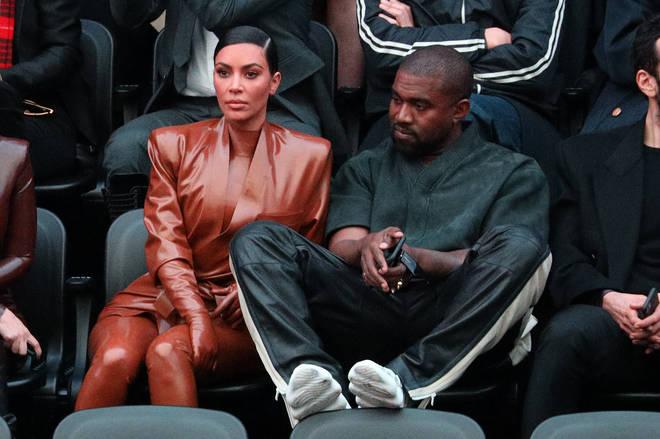 Kim and Kanye at Paris Fashion Week 2020