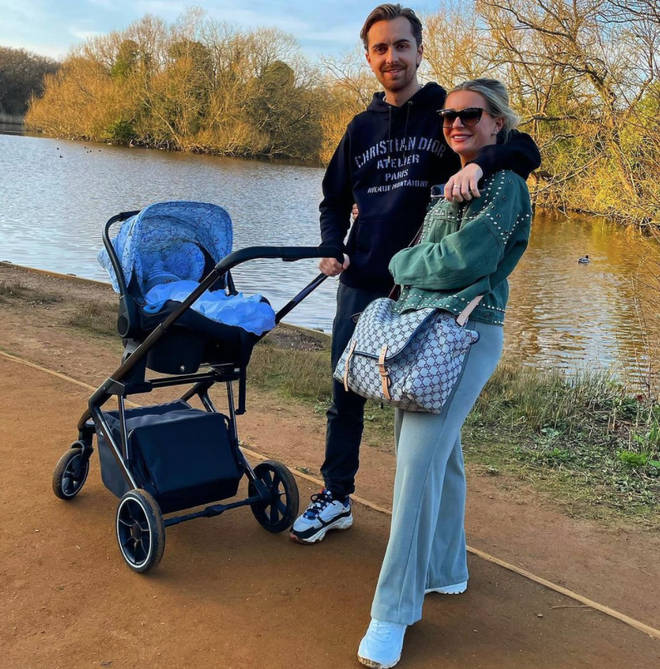 Dani Dyer and Sammy Kimmence are parents to Santiago