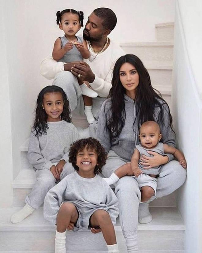 Kim Kardashian and Kanye West have four kids together.