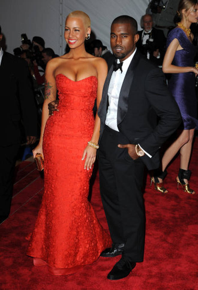 Kanye West famously dated Amber Rose for two years.