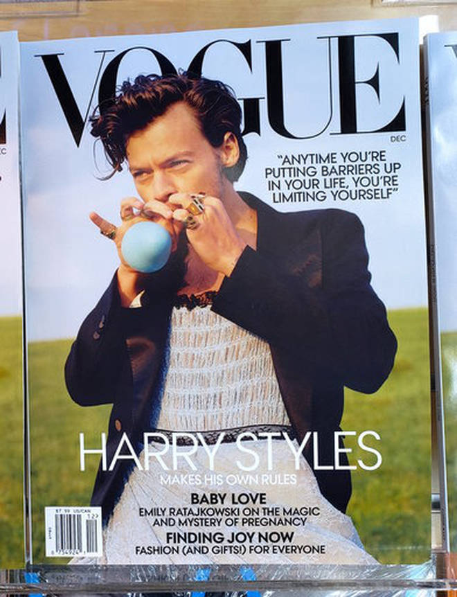 Harry Styles was praised by fans for wearing a dress on the cover of Vogue last year.