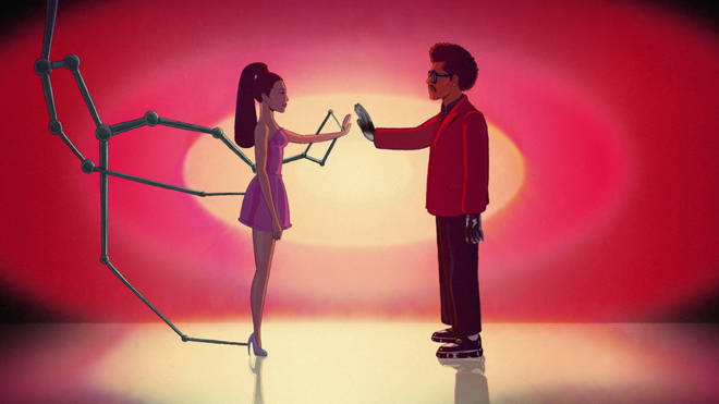 Ariana Grande and The Weeknd's 'Save Your Tears' Remix animated music video has a sci-fi element.