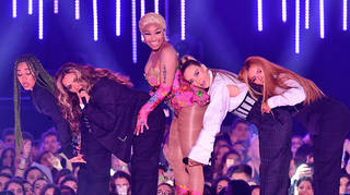 Little Mix and Nicki Minaj performed 'Woman Like Me' for the first time with Nicki Minaj