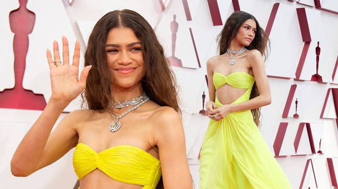 Zendaya wore a Valentino gown to the 2021 Oscars
