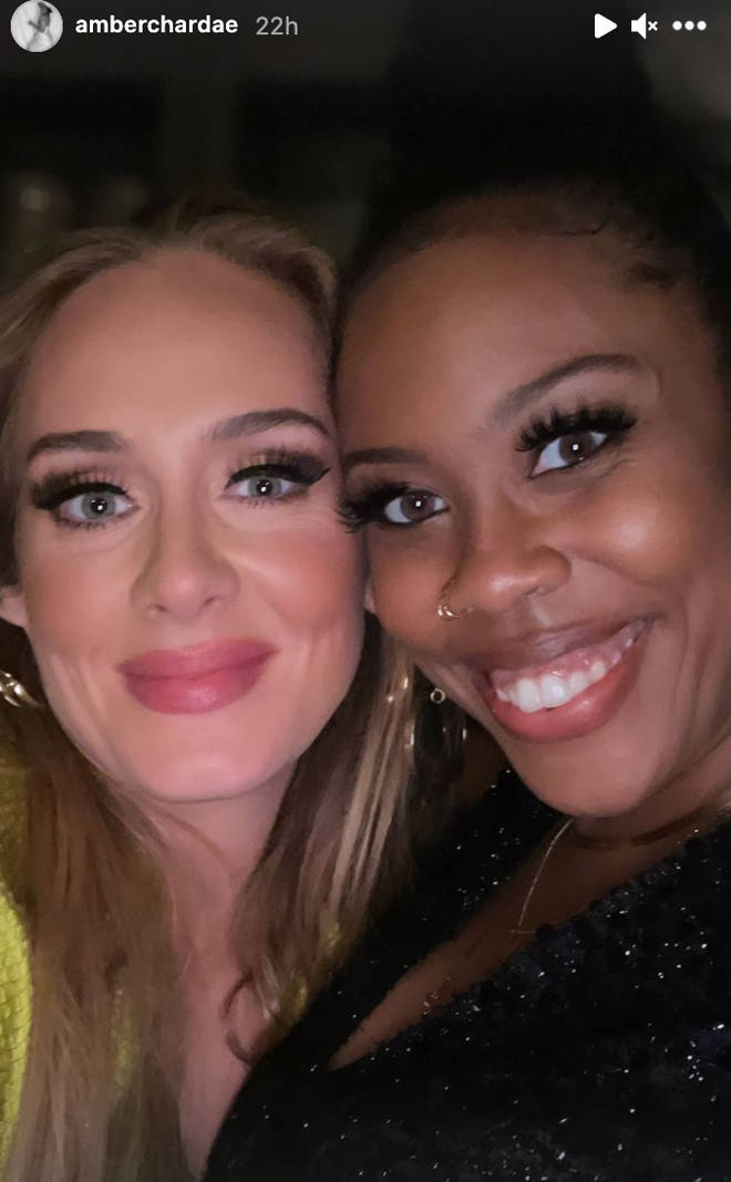 Adele posed for a picture with Amber Chardae