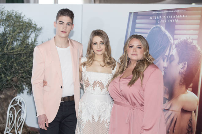 After's author, Anna Todd, with Hero Fiennes Tiffin and Josephine Langford.