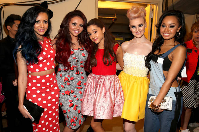 Little Mix and Ariana Grande at the Nickelodeon Kids' Choice Awards in 2013.