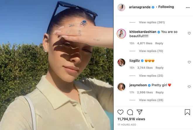Jesy Nelson left a sweet comment on Ariana Grande's post.