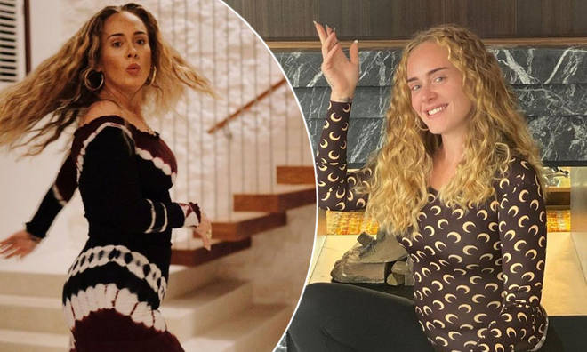 Adele shared some rare snaps on her 33rd birthday.