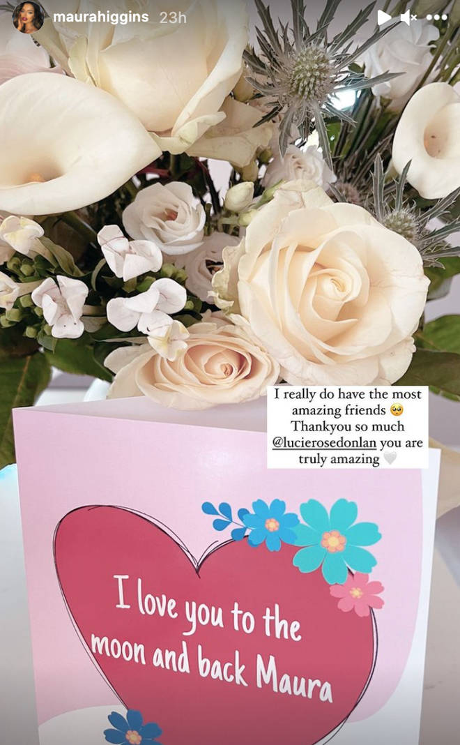 Lucie Donlan sent Maura Higgins a card and some flowers