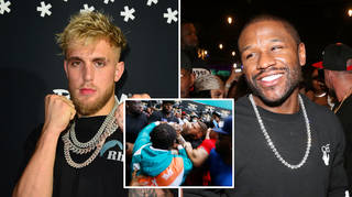 Jake Paul got into a fight with Floyd Mayweather