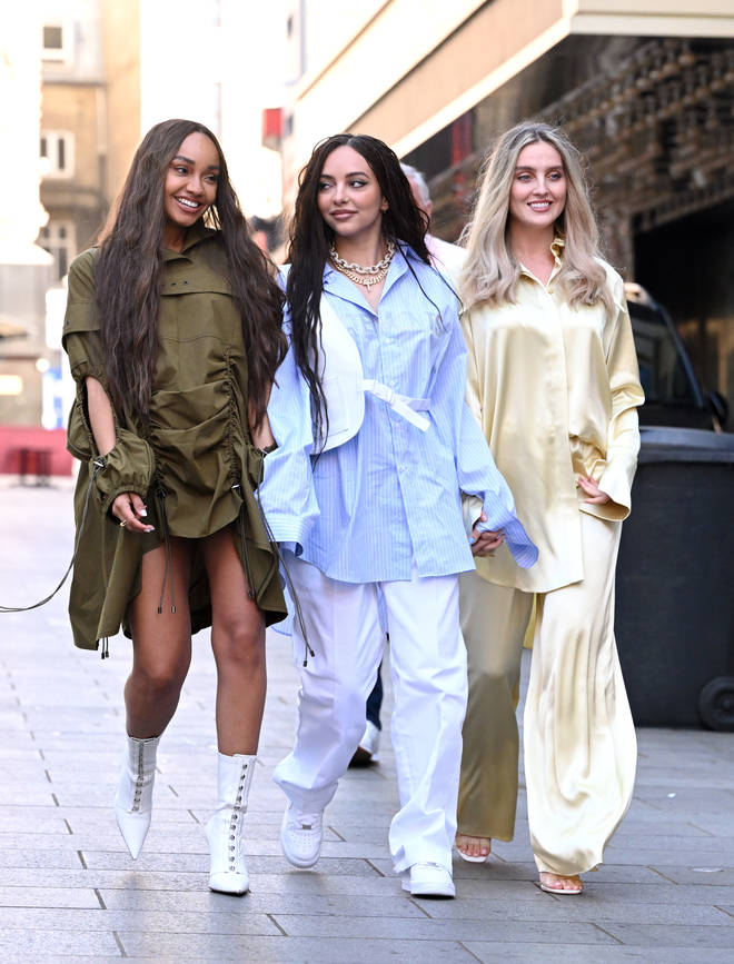Little Mix's Perrie and Leigh-Anne kept their bumps hidden on their last group outing