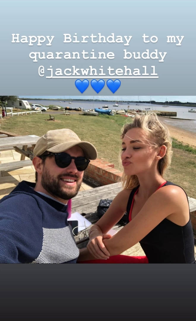 Roxy Horner has been living with Jack Whitehall since March last year.