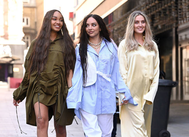 Little Mix wore baggy clothing to hide Perrie and Leigh-Anne's bumps.