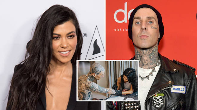 Kourtney Kardashian tattooed boyfriend Travis Barker