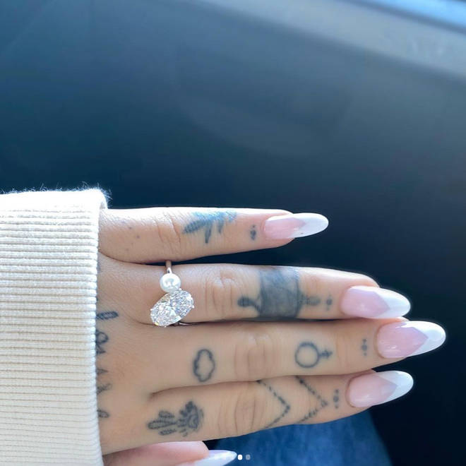 Ariana Grande received a custom engagement ring from Dalton Gomez in December