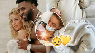 Jena Frumes and Jason Derulo announced the birth of their son.
